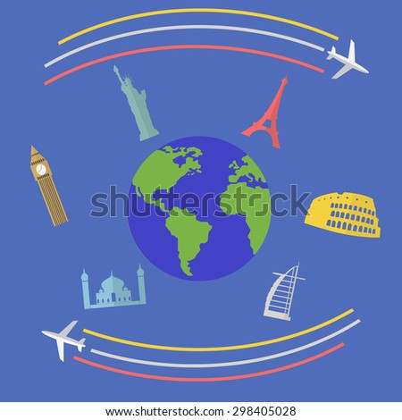 Womans passport travel visa approved vector stock vector for Around the world cruise