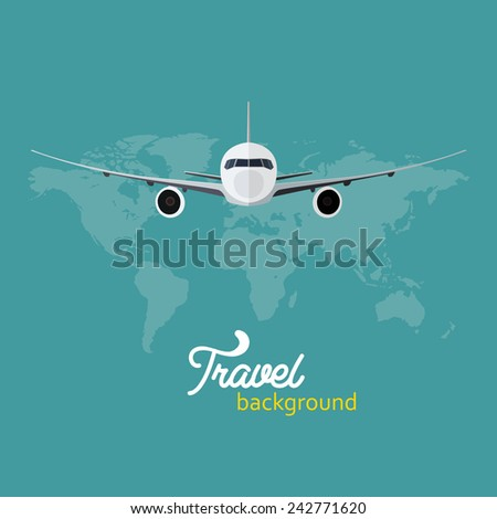 Travel background vector illustration - stock vector