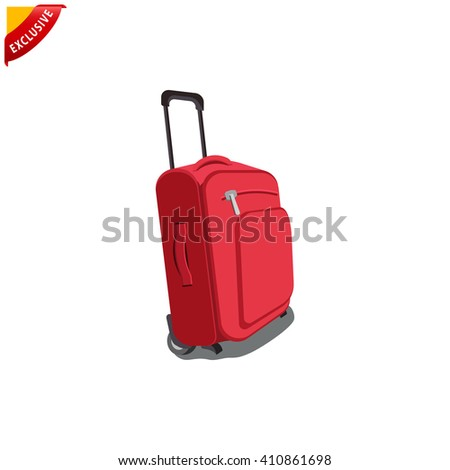 travel bag icon, vector travel bag, isolated travel bag