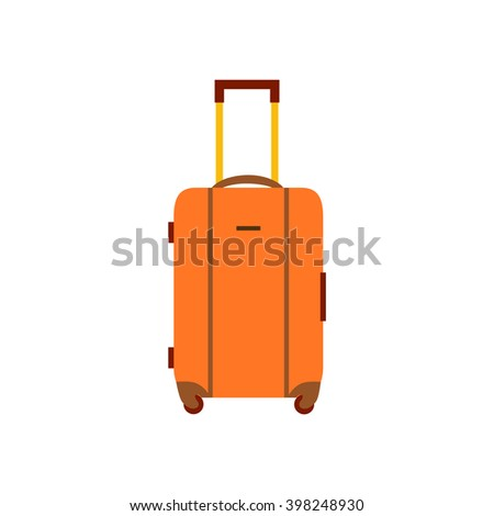 Travel bag vector illustration. Travel bag isolated icon. Travel bag  summer symbol. Travel bag for traveling design. Summer time vacation travel bag isolated icon  - stock vector