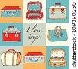 travel bags - stock vector