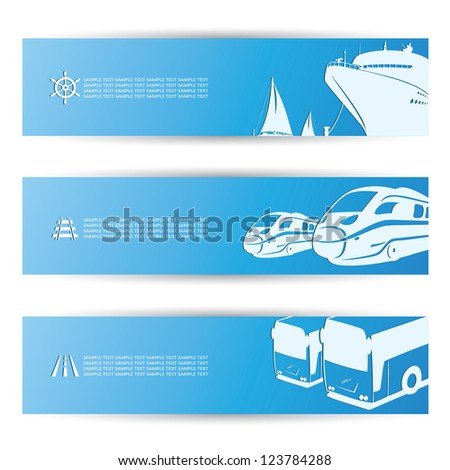 Travel banners - vector illustration - stock vector