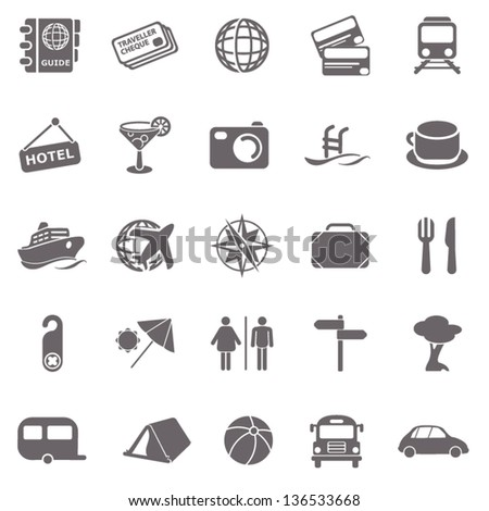 Travel basic icons - stock vector