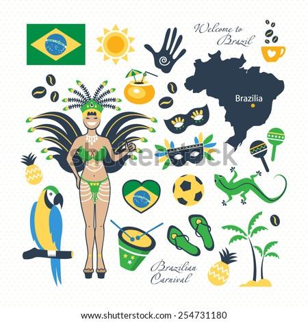 travel Brazil - stock vector