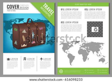 Travel Brochure Design Template Travel Tourism Stock Vector