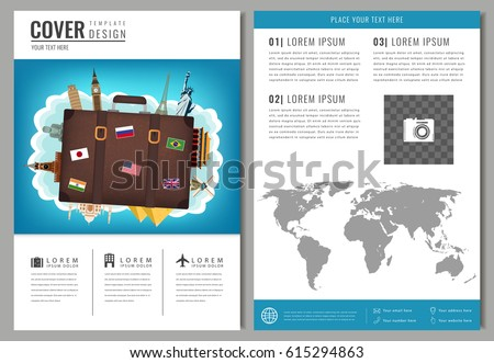 Travel Brochure Design Template Travel Tourism Stock Vector Hd