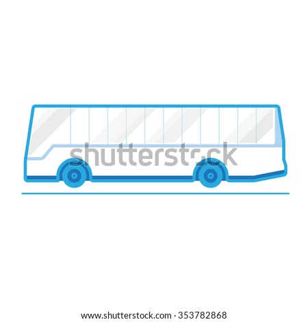 Travel Bus, transportation vehicles, Flat style vector illustration - stock vector