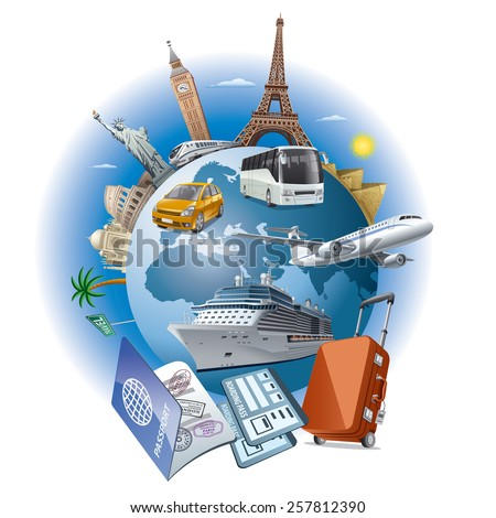 travel business - stock vector