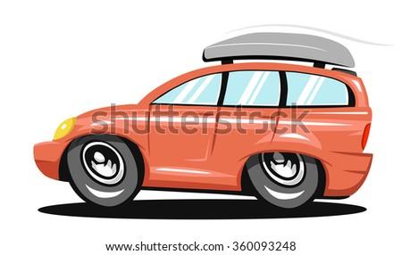 Travel car - stock vector