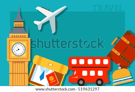 Travel Card Design with London Attractions