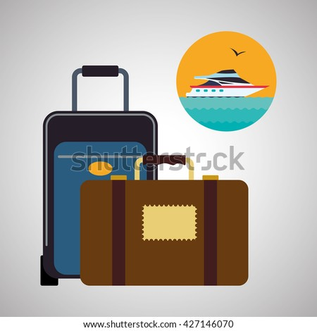 Travel design. Flat illustration