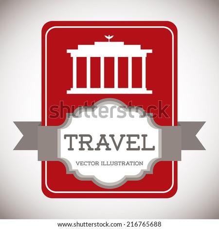 travel design over gray background vector illustration - stock vector