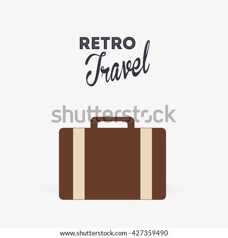 Travel design. trip icon. Isolated illustration, editable vector - stock vector
