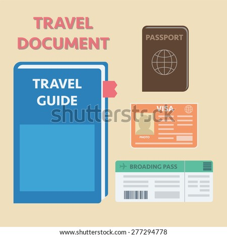 Travel documents set, vector illustration eps10 graphic - stock vector