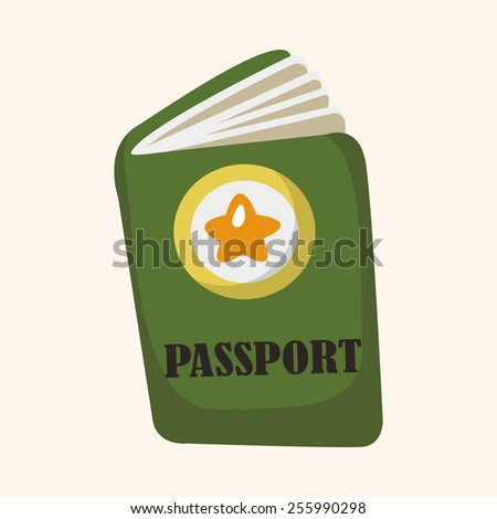 Travel equipment passport theme elements - stock vector
