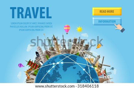 travel. famous monuments of the world