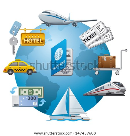 travel icon concept - stock vector