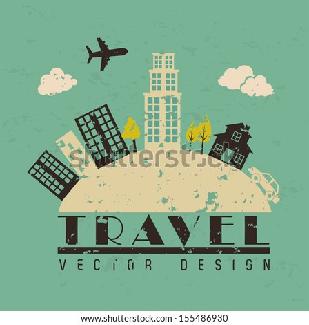 Travel icon over blue background vector illustration - stock vector
