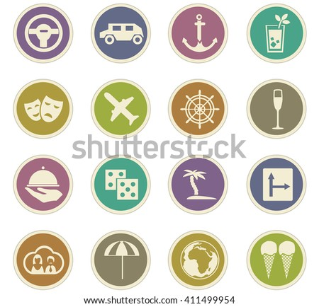 Travel icon set for web sites and user interface - stock vector