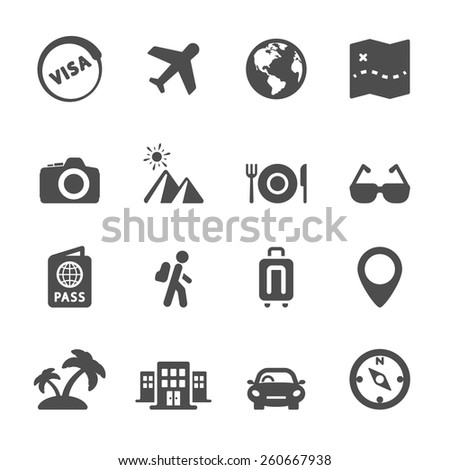 travel icon set 4, vector eps10. - stock vector