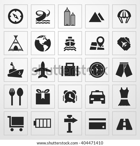 travel Icon. travel sign - stock vector