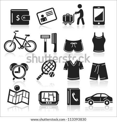 Travel icons set5. vector eps 10 - stock vector