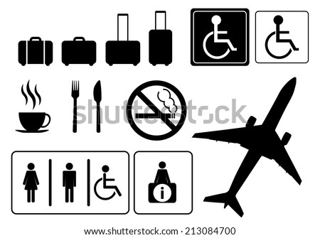 Travel icons, vector eps.10 - stock vector