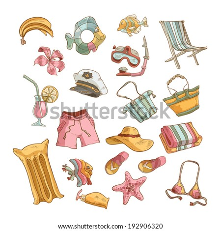 Travel icons. Vector format - stock vector