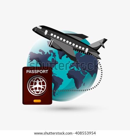 Travel illustration design, editable vector - stock vector