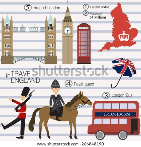 Travel in England - stock vector