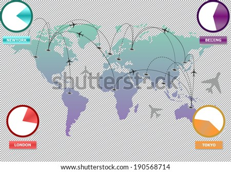 Travel Info graphic set with charts and other elements. Vector illustration - stock vector