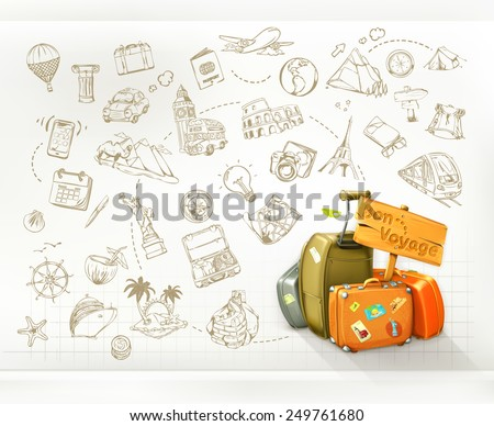 Travel infographics, vector - stock vector