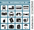 travel information set, icon set, vector - stock photo