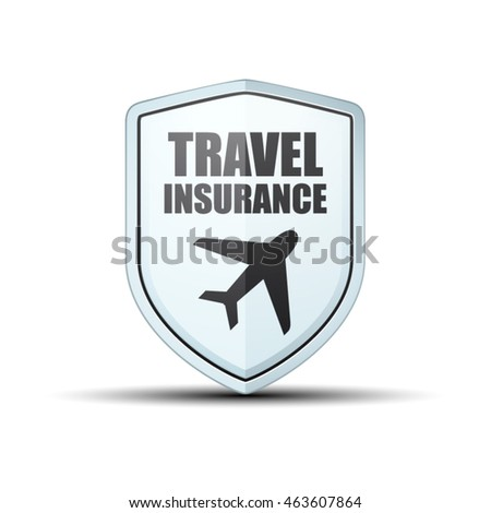 Travel Insurance shield label