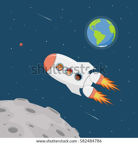 cartoon astronaut in outer space - photo #14