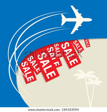 Travel Sale abstract design, vector illustration - stock vector