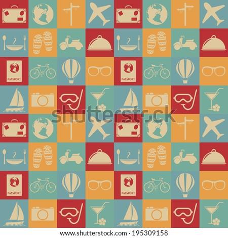 Travel seamless pattern.  - stock vector