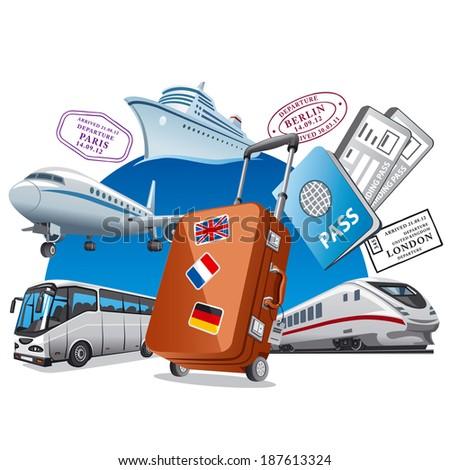 travel service concept - stock vector