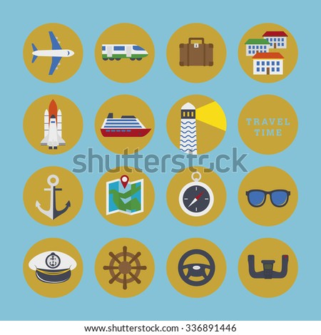 Travel Signs Symbols Icons Stock Vector 336891446 Shutterstock