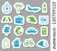 travel stickers - stock vector