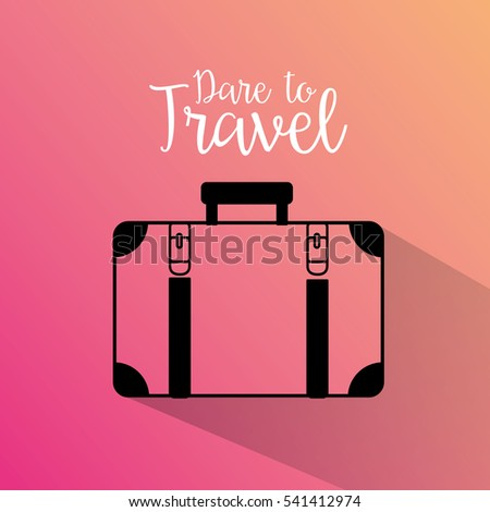 travel suitcase silhouette icon vector illustration design