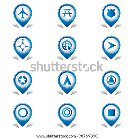 Travel Tab icons - stock vector