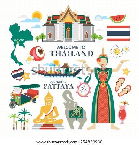 travel Thailand - stock vector