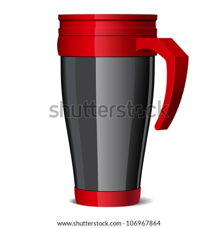 travel thermo-cup vector - stock vector