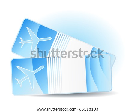 Travel tickets - stock vector