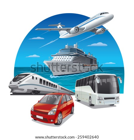 travel transport - stock vector