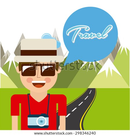 travel vacations design, vector illustration eps10 graphic