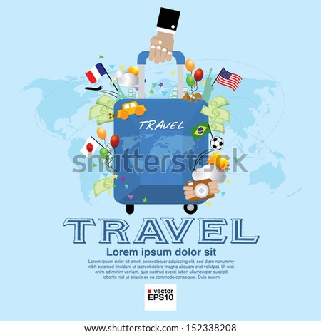 Travel Vector Illustration Concept.EPS10 - stock vector