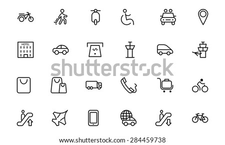 Travel Vector Line Icons 4 - stock vector