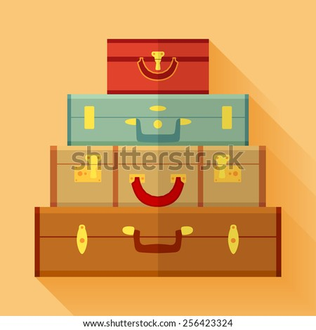 Travelers suitcases. Conceptual illustration suitable for advertising and promotion - stock vector